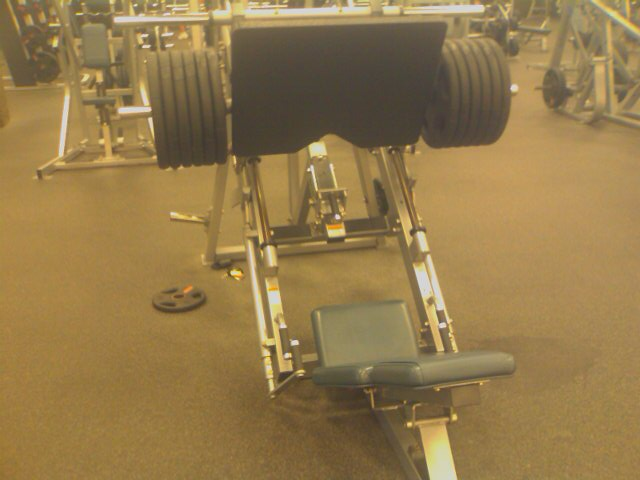 12 x45 lb. Plates on Incline Leg Press