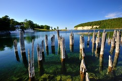 """Snail Shell harbor""  Fayette Historic Ghost Town, Garden peninsula,  (6 photos) by Michigan Nut"
