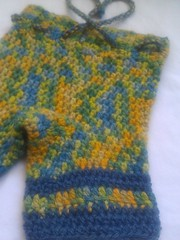 Small crochet wool shorties- BFL