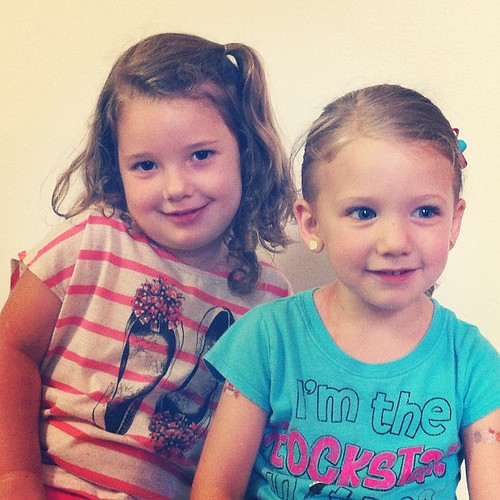 Cousins. Only two weeks apart. McKinley is the youngest and the biggest!