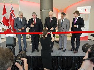 Opening of York University's KIP-funded Life Sciences Building.