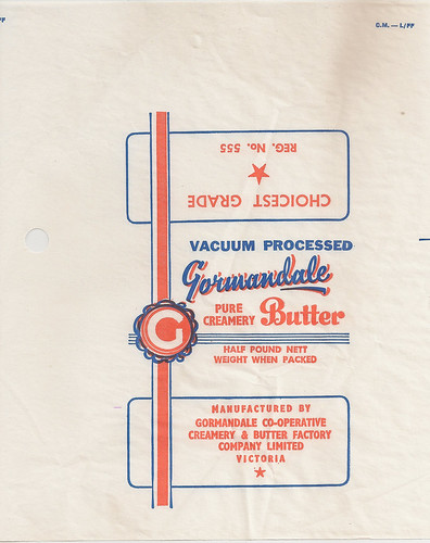Gormandale Butter Wrapper
