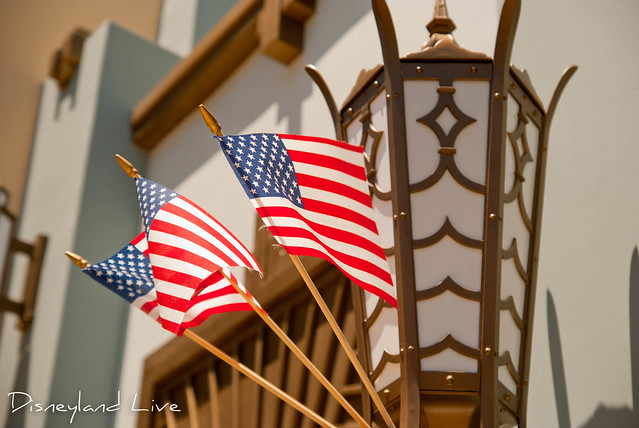 Buena Vista Street Patriotic Decorations