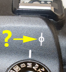 If you don't know what this funny mark is on the side of a DSLR then read on...