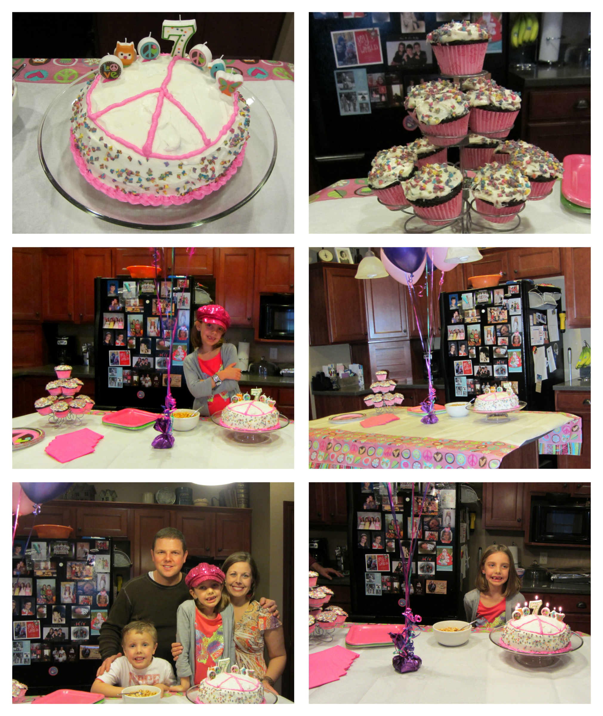 Grace  7 birthday collage