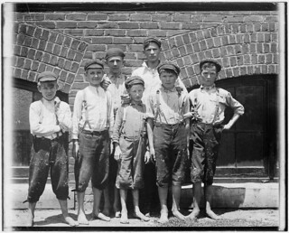 Doffers in Aragon Mills. Rock Hill, S.C., May 1912
