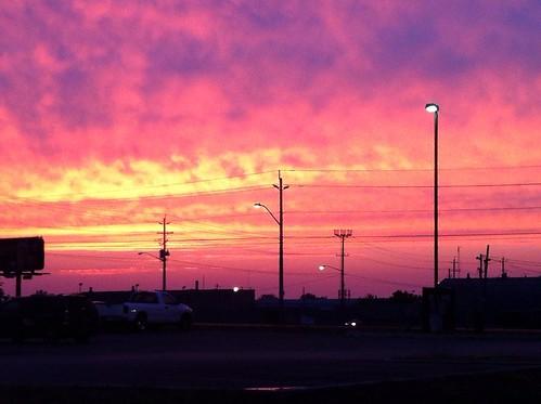 sunset urban ontario highway vibrant belleville