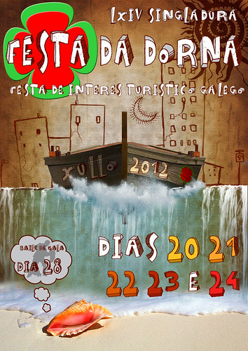 Ribeira 2012 - Festa da Dorna - deseño cartel