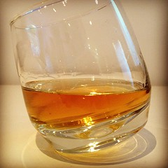 Taking our new wobbly whisky glasses out for a test run