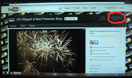 4 Million Video Views On The Epic Fireworks Youtube Channel