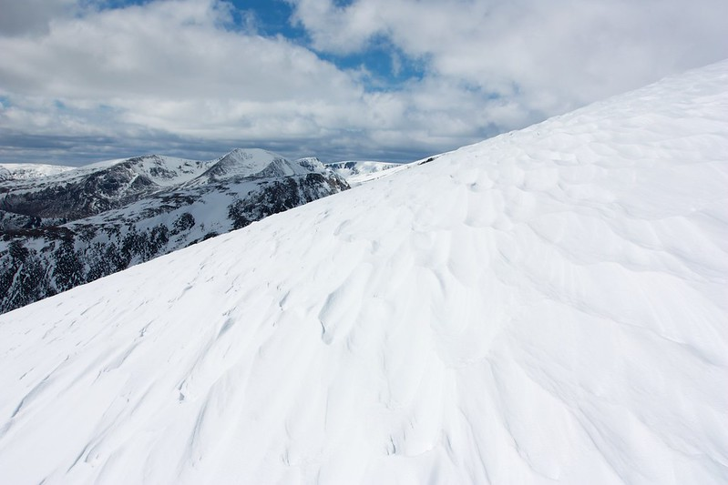 Wind-sculpted snow