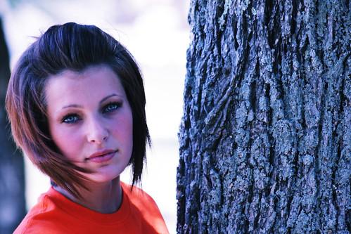 portrait tree beautiful beauty youth eyes pretty teen lovely