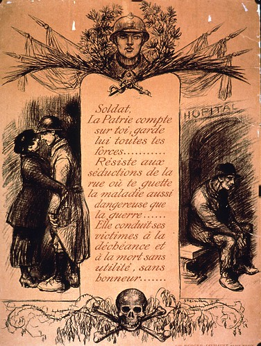 French Anti-Prostitution Poster, WWI