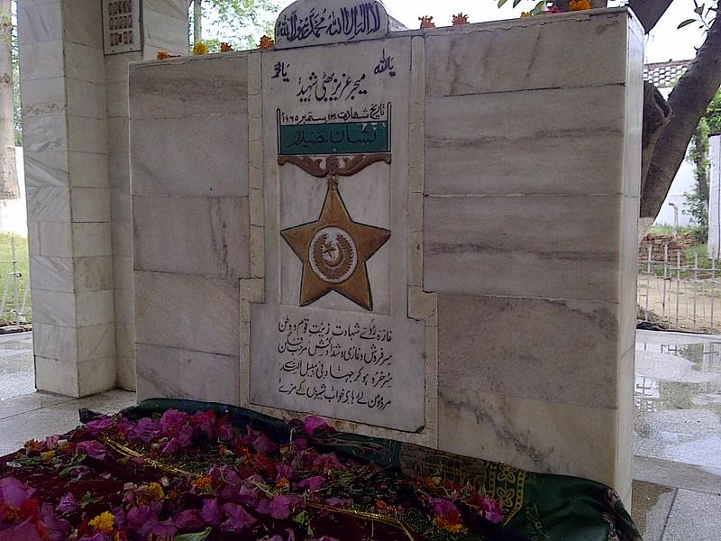 Major Aziz Bhatti Shaheed - Gravestone