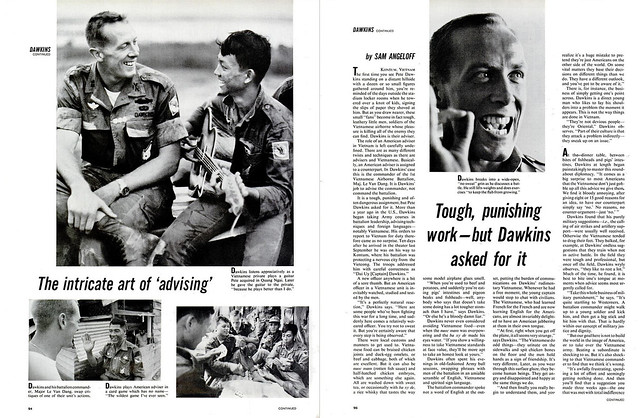 LIFE Magazine April 8, 1966 (3) - The intricate art of 'advising' - Tough, punishing work--but Dawkins asked for it