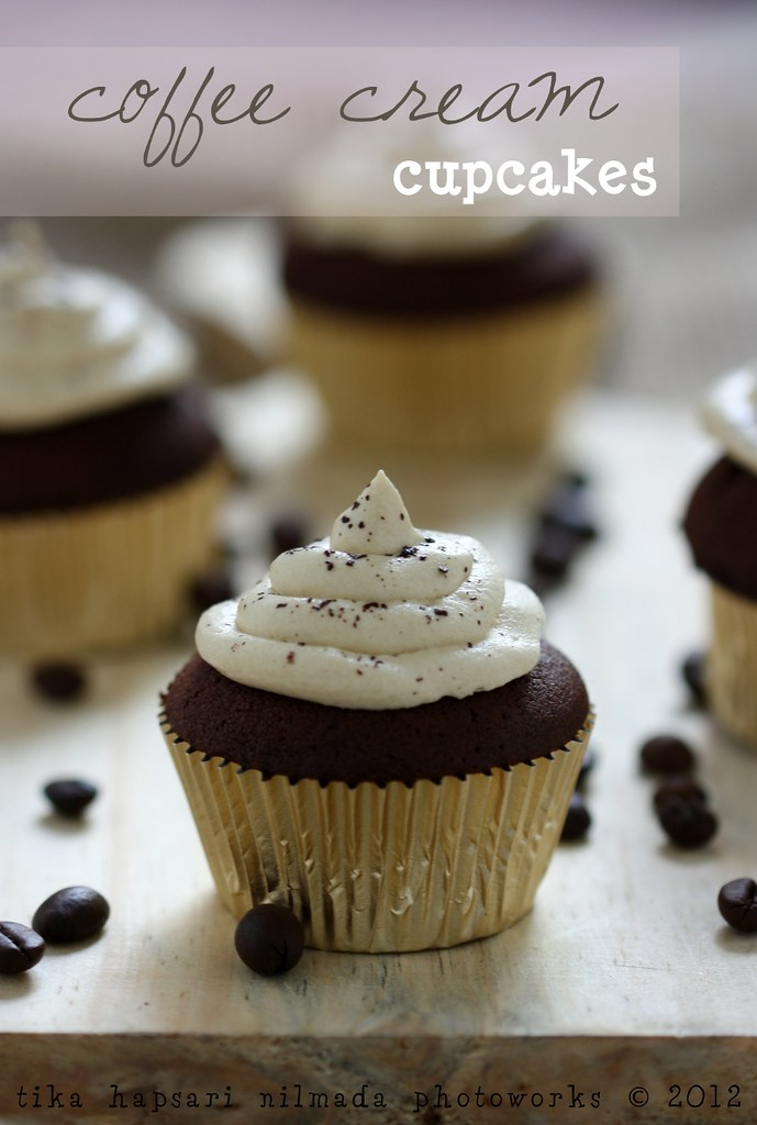 (Homemade) - Coffee cream cupcakes