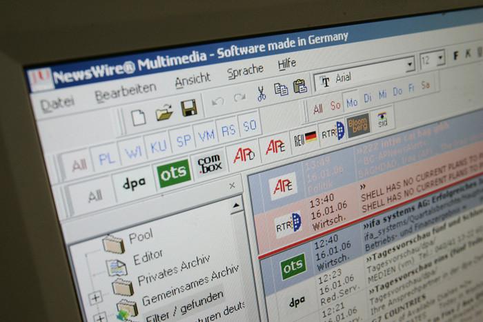 Redaktionssystem bei der FTD in Hamburg