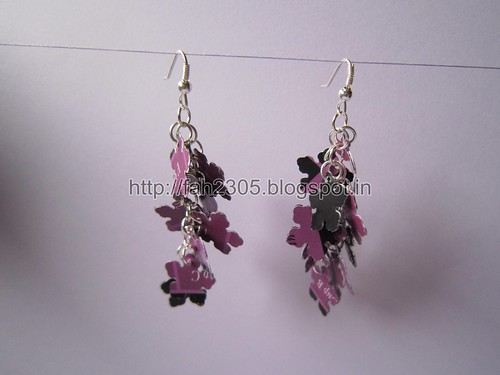 Handmade Jewelry - Paper Punch Earrings (5) by fah2305