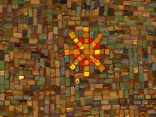 Mosaic in Skylight One Hanson Building
