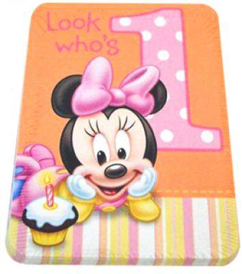 MyBirthdaySupplies Minnie Mouse Birthday Party Theme Invitation