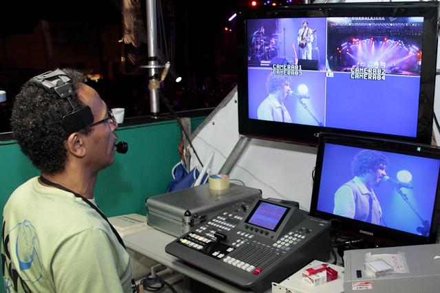 Equipe de transmissão do FIG 2012 na TVPE. Foto: Olívia Leite