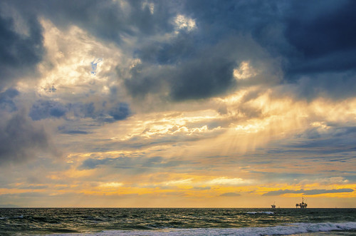 ocean california travel sunset sea vacation usa sun seascape beach water weather clouds landscape nikon surf view socal orangecounty huntingtonbeach hdr hb d7000 meeyak