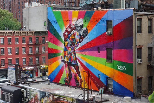 V-J Day Mural by Eduardo Kobra