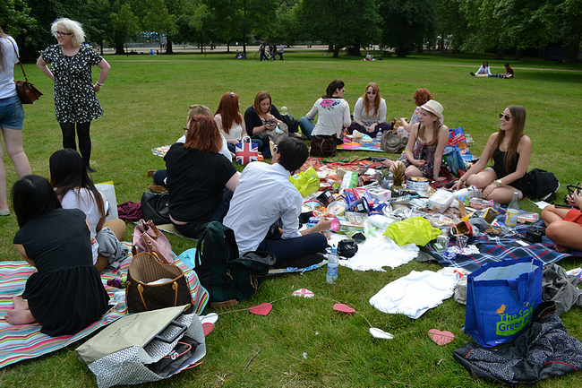 daisybutter - UK Style and Fashion Blog: photo diary, what i did, london hyde park, london 2012, bloggers meet up, picnic, pineapples, bloggerwearpineapples