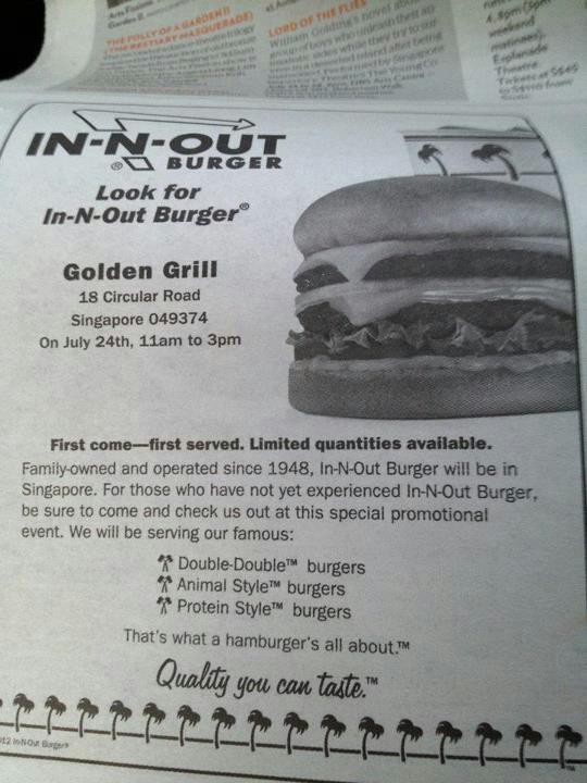 In-N-Out Burger Coming To Singapore
