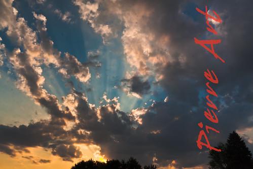 blue sunset sky clouds soleil pierre coucher bleu ciel nuage artcanon40d