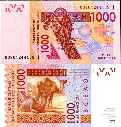 1000 Frankov Togo 2003, Pick 815T