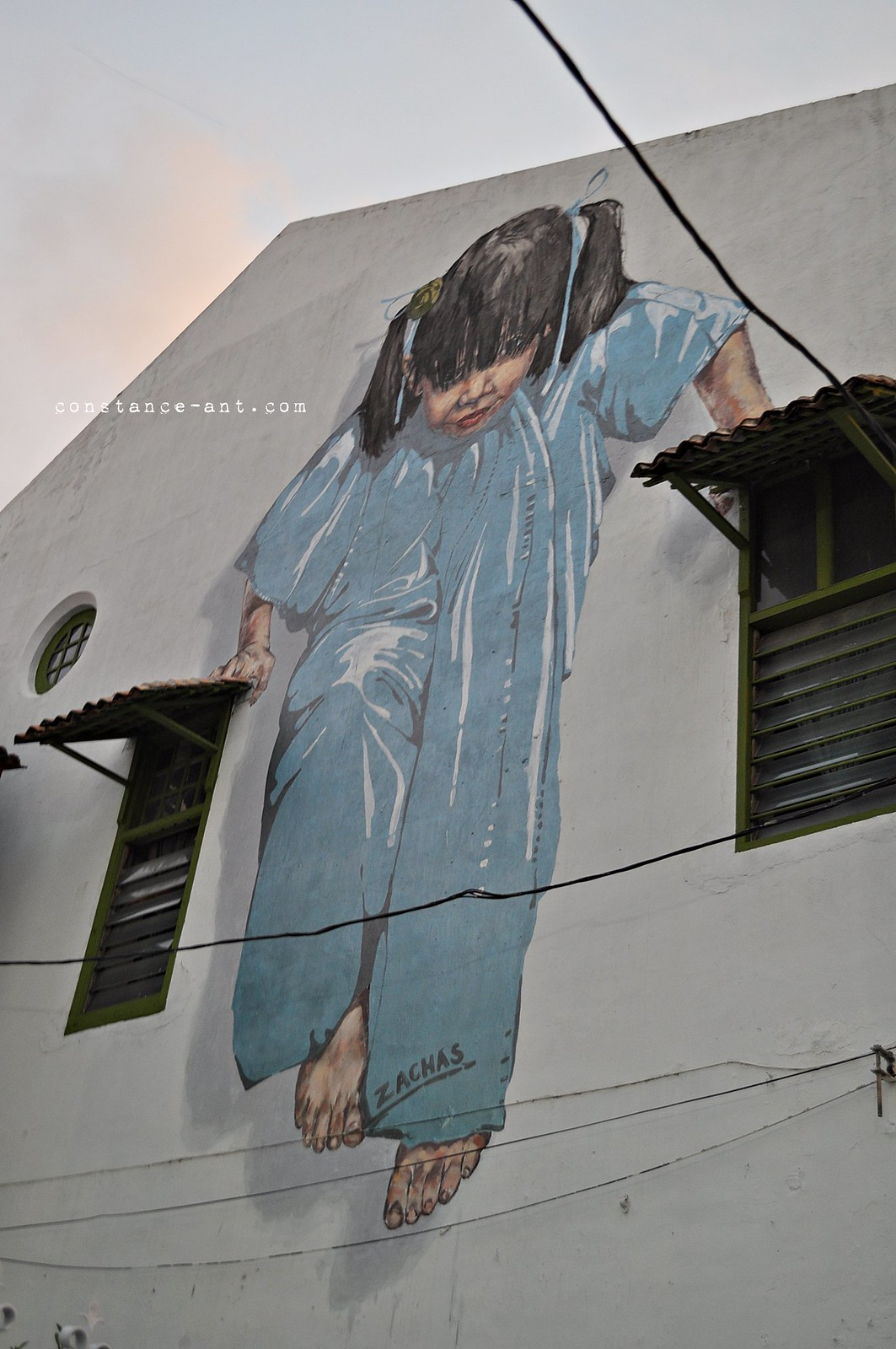Ernest Zacharevic @ George Town Penang, with map