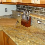 More granite counters in kitchen
