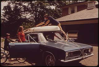 Boaters Unload Canoe Near The Ohio River, September 1972