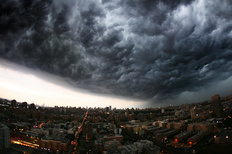 Scary clouds over New York City!