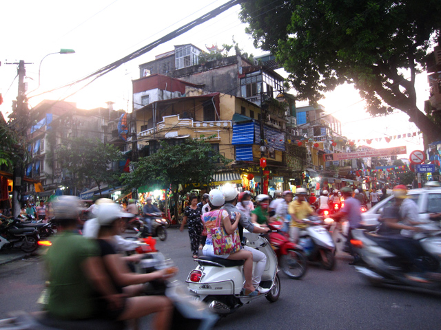 Always busy streets of Hanoi
