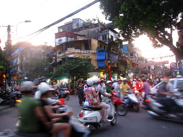 Always busy streets of Hanoi