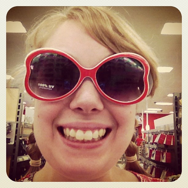 Almost bought these fantastic sunglasses from Target today. =p