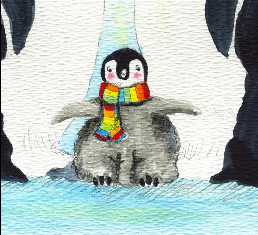 Penguin print detail