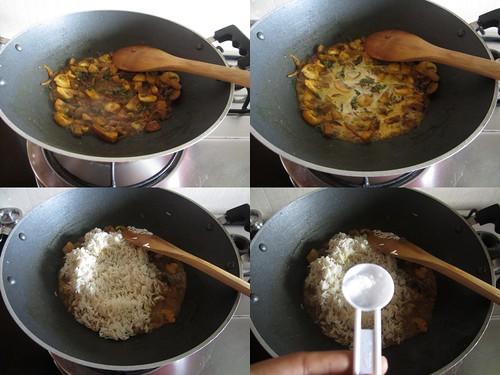 Chettinad Mushroom Biryani-step6