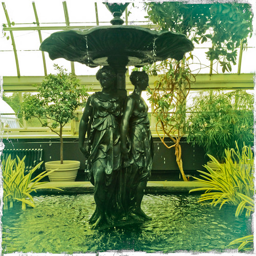 Girls with Umbrella in NYBG Conservatory