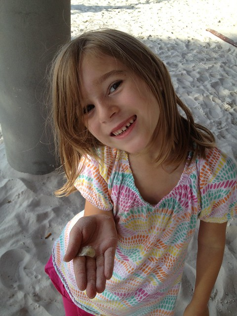 Katie-Abigail found a shell