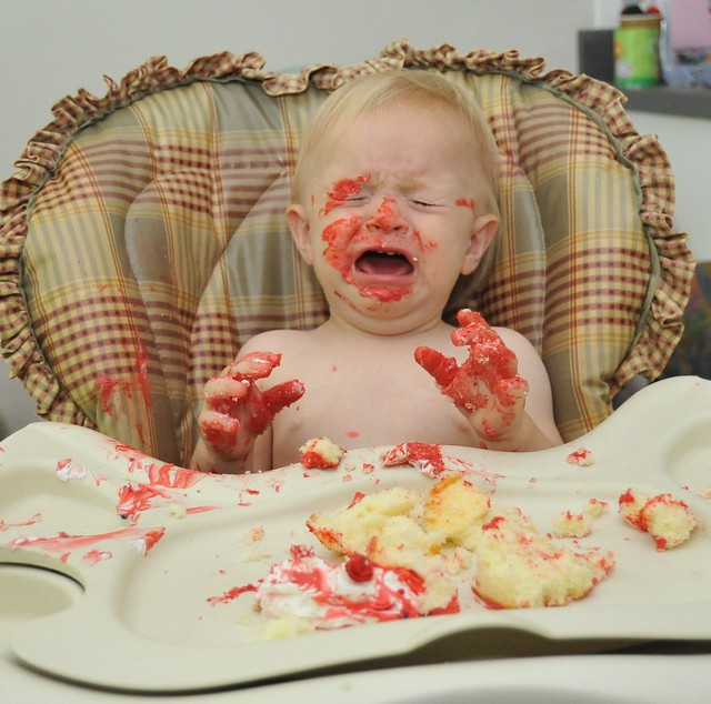post-cake meltdown