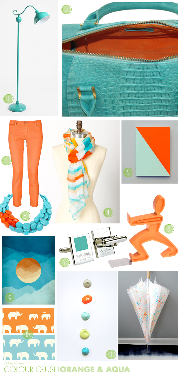 {colour crush} orange and aqua