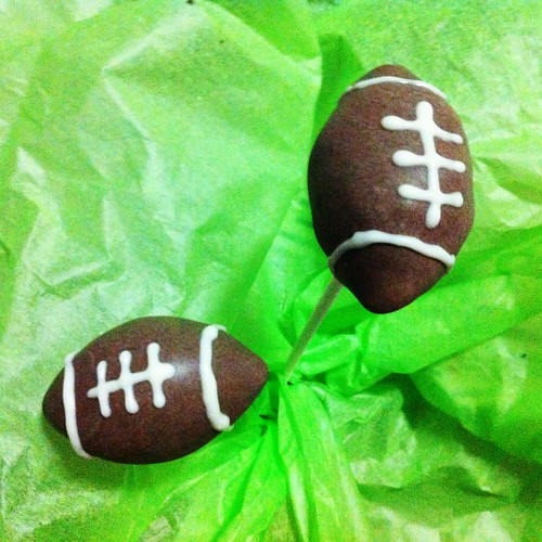 Foot Ball Cake Pops