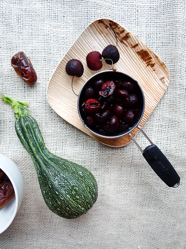 zucchini cherry bundt // date glaze
