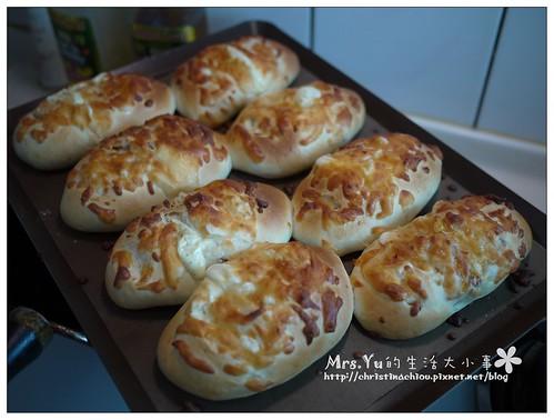 洋蔥燻雞起司麵包