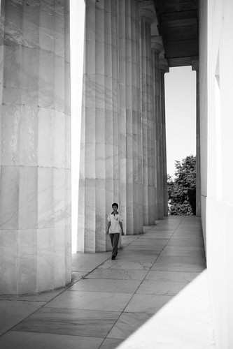 "Image titled ""Columns, Lincoln Memorial."""