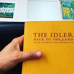 another literary journal-- the idler, this is their agrarian issue, strong focus on guilds and the kindred bushcraft movement-- social institutions of land movements great read for trainride!