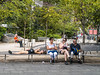 Candid of People Waiting For Bus In Manhattan (I guess one of these tourist didn't get enough sleep) by nrhodesphotos(the_eye_of_the_moment)
